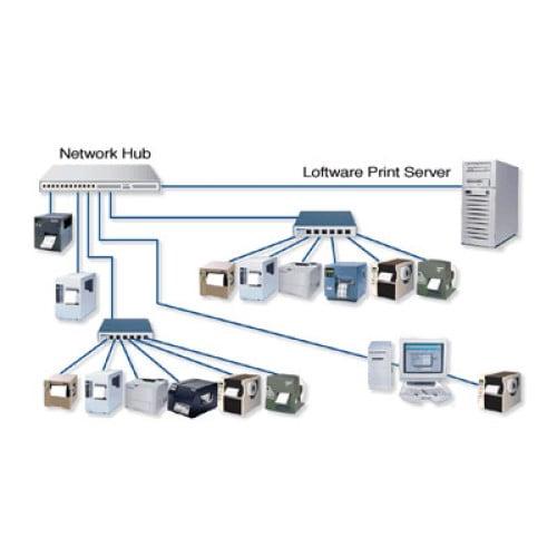 Loftware Print Server Standard Edition 10 Bar code Software