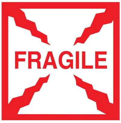 S-8211-COMPARABLE - AirTrack Fragile Shipping Labels