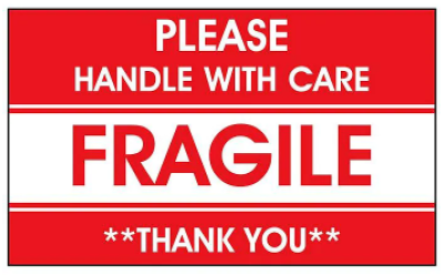 S-5943-COMPARABLE - AirTrack Fragile Shipping Labels