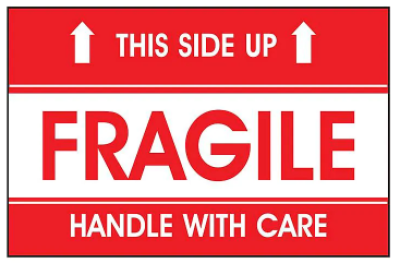 S-6204-COMPARABLE - AirTrack Fragile Shipping Labels