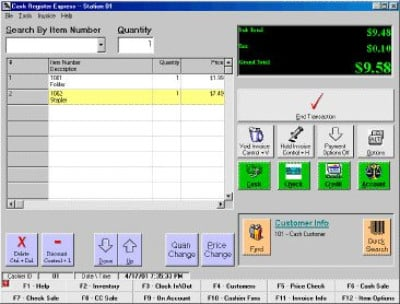Cash Register Express Cash Register Express Point of Sale Software