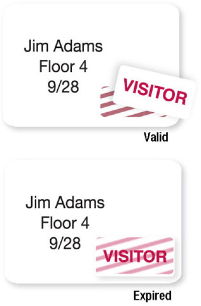 Brady Visitor Badges Access Control Card