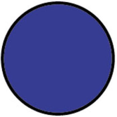 Circle Light Blue Shipping Label