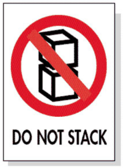 Packing Do Not Stack Shipping Label