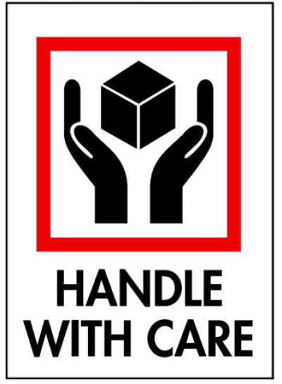 Packing Handle With Care Shipping Label