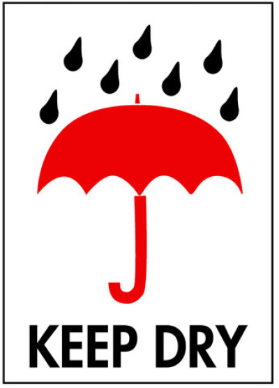 Packing Keep Dry Shipping Label