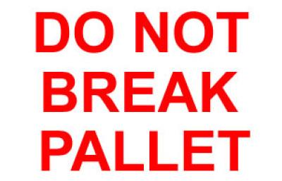 Packing Do Not Break Pallet Shipping Label