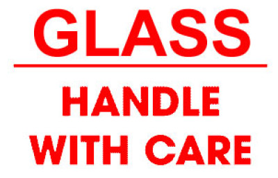 Packing Glass Handle With Care Shipping Label