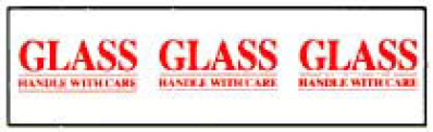 Printed Tape Glass Handle With Care Shipping Label
