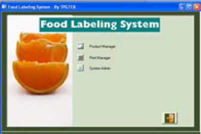 TPGTEX Food Labeling System Bar code Software