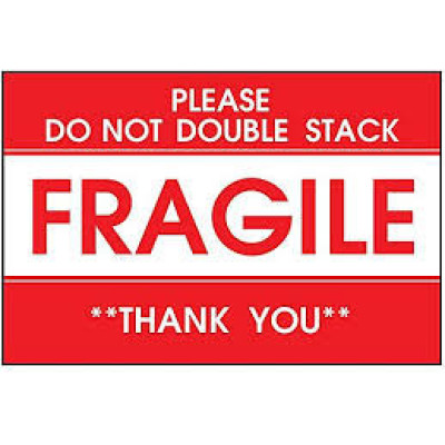 AirTrack Fragile Shipping Label