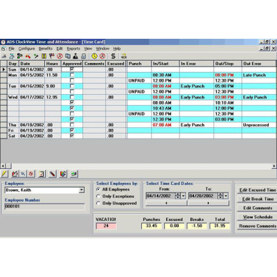 CLKVL0501 - Unitech ClockView Time Tracking Software