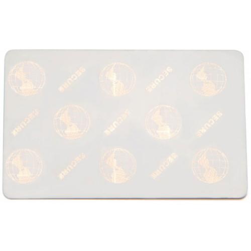 82321 - Fargo Standard HoloMark Card Gold Plastic ID Card