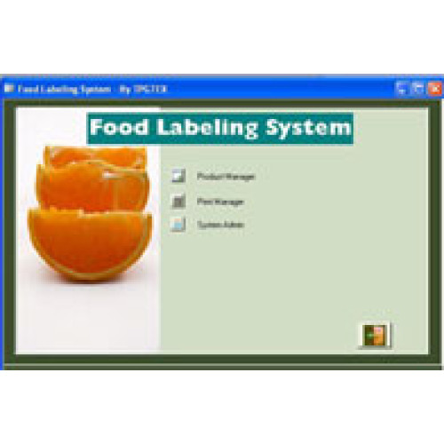 TPG-FLS-AD - TPGTEX Food Labeling System Bar code Software